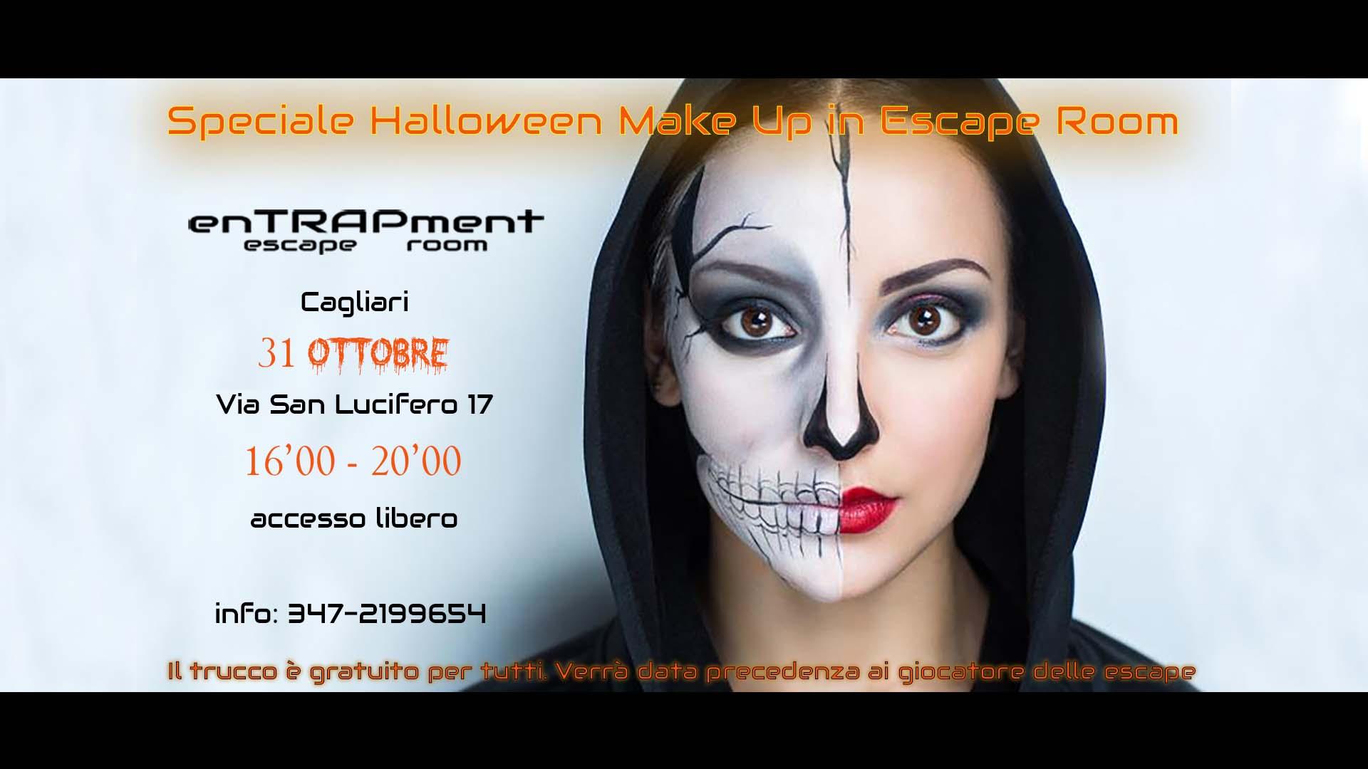 Halloween Party, Make Up horror gratutito in escape room